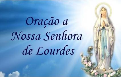 Oração Nossa Senhora de Lourdes